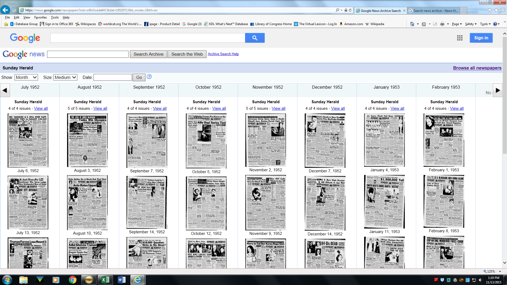 image of scanned newspapers