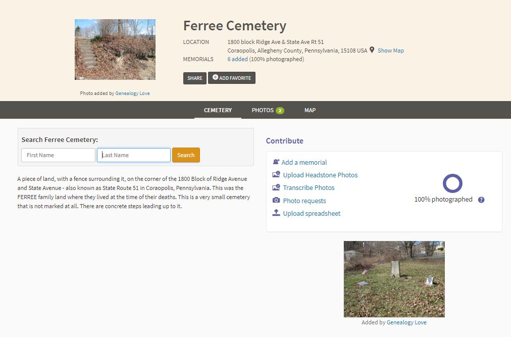 Find A Grave_Ferree Cemetery