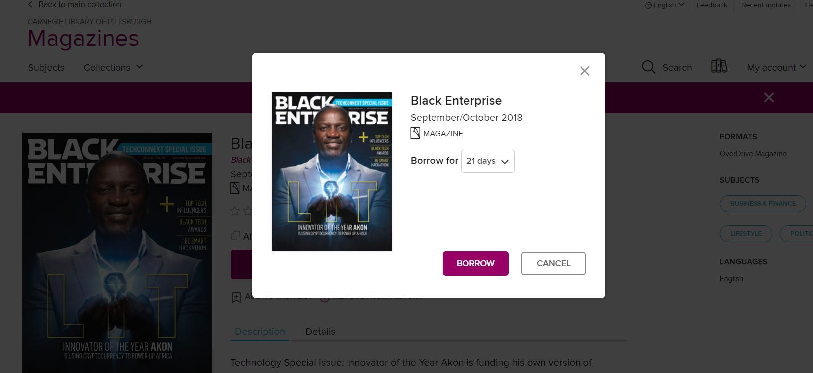 OD Magazine - Black Enterprise Borrow2