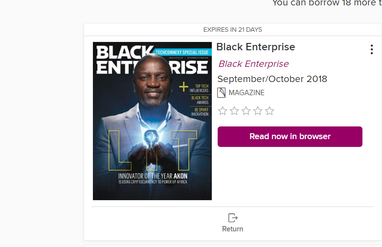 OD Magazine - Black Enterprise Borrow3