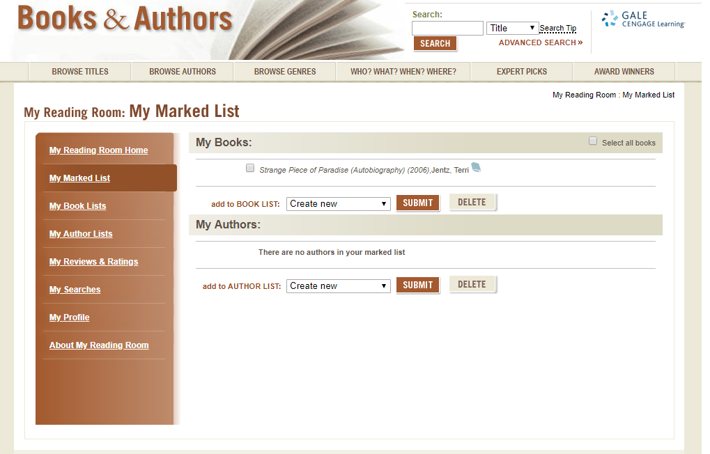view books in my marked list