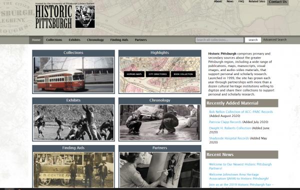 historic pittsburgh homepage